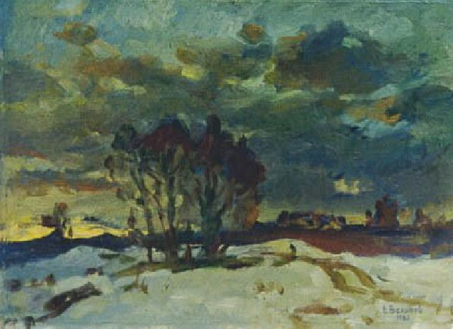 Winter Evening Akhuny | Vasilij Belikov 1921-1994 | Oil Painting