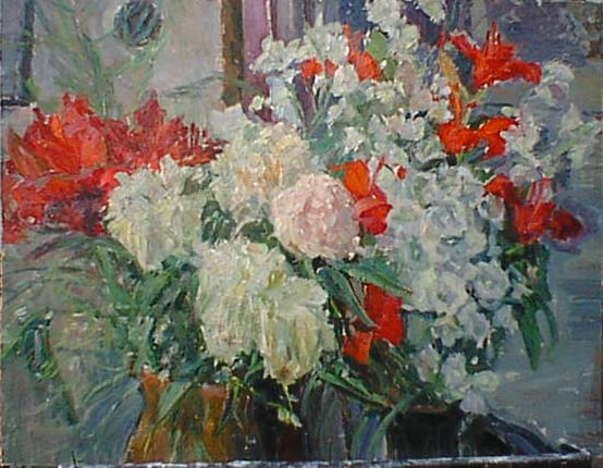 Flowers 1959 | Vladimir Gorb 1903-1988 | Oil Painting