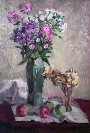 Still Life with Flowers 1958 | V Gukov | Oil Painting
