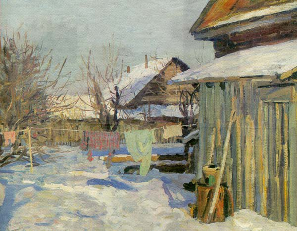 In March 1973 | Yuri P Kugach | Oil Painting