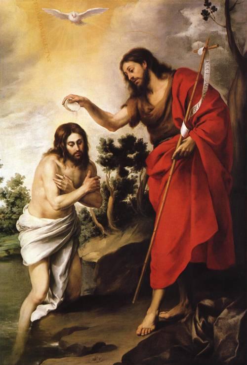 The Baptism of Christ (St. John the Baptist) | Bartolome Esteban Murillo | Oil Painting