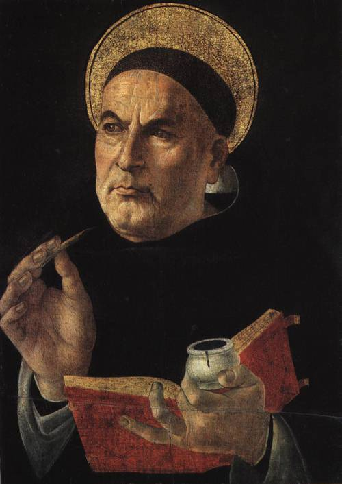 St. Thomas Aquinas (St. Thomas Aquinas) | Botticelli (Attributed to) 1481 1482 | Oil Painting