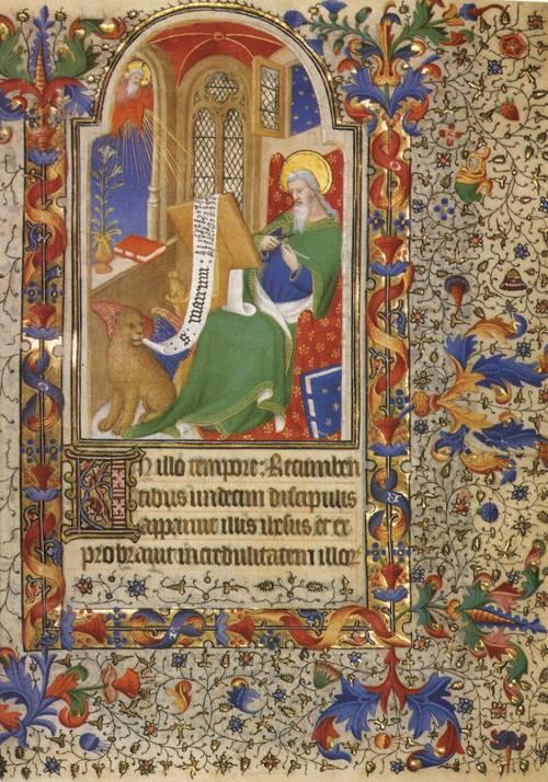 St. Mark Cutting a Pen (St. Mark) | Boucicaut Master or Workshop 1420 | Oil Painting
