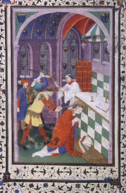 Martyrdom of St. Thomas of Canterbury (St. Thomas Becket) | Boucicaut Master | Oil Painting