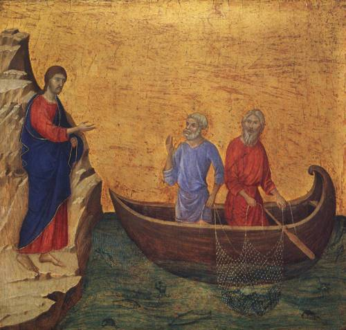 The Calling of the Apostles Peter and Andrew (St. Andrew) | Duccio di Buoninsegna 1308 1311 | Oil Painting