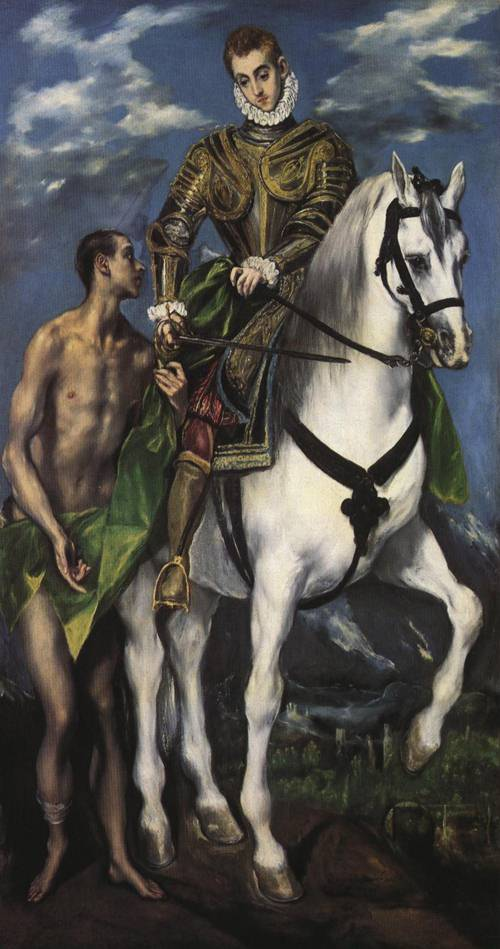 St. Martin and the Beggar (St. Martin) | El Greco 1597 1599 | Oil Painting