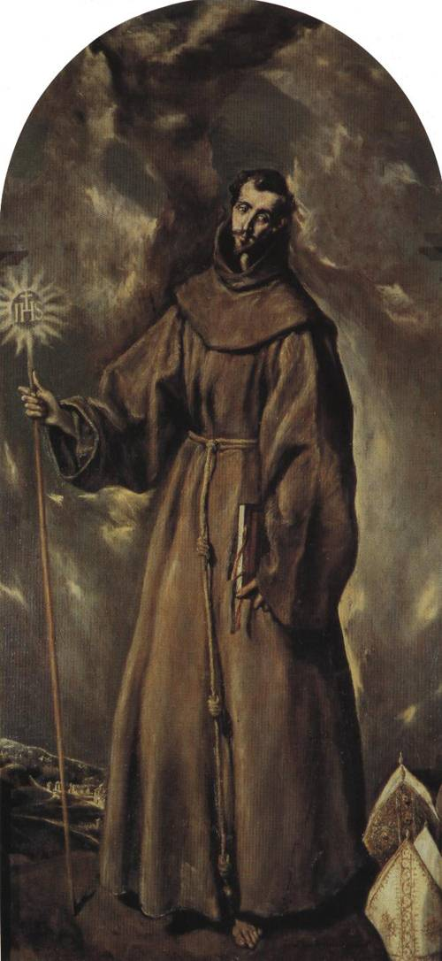 St. Bernardino of Siena (St. Bernardino of Siena) | El Greco | Oil Painting
