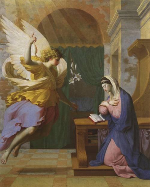 The Annunciation (St. Gabriel the Archangel) | Eustache Le Sueur | Oil Painting