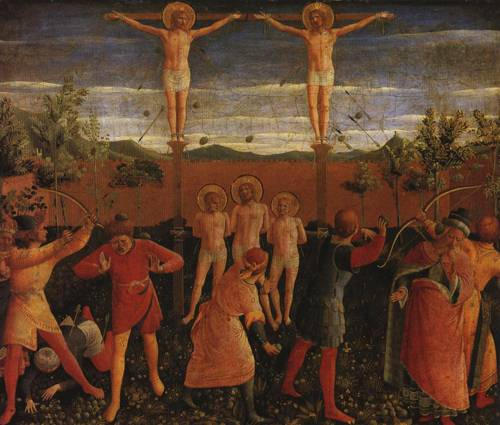 The Crucifixion of SS. Cosmas and Damian (SS. Cosmas and Damian) | Fra Angelico | Oil Painting