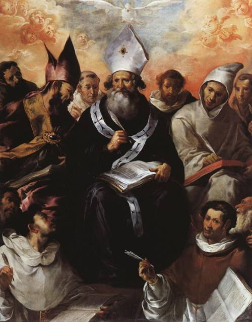 St. Basil Dictating His Doctrine (St. Basil) | Francisco de Herrera the Elder | Oil Painting