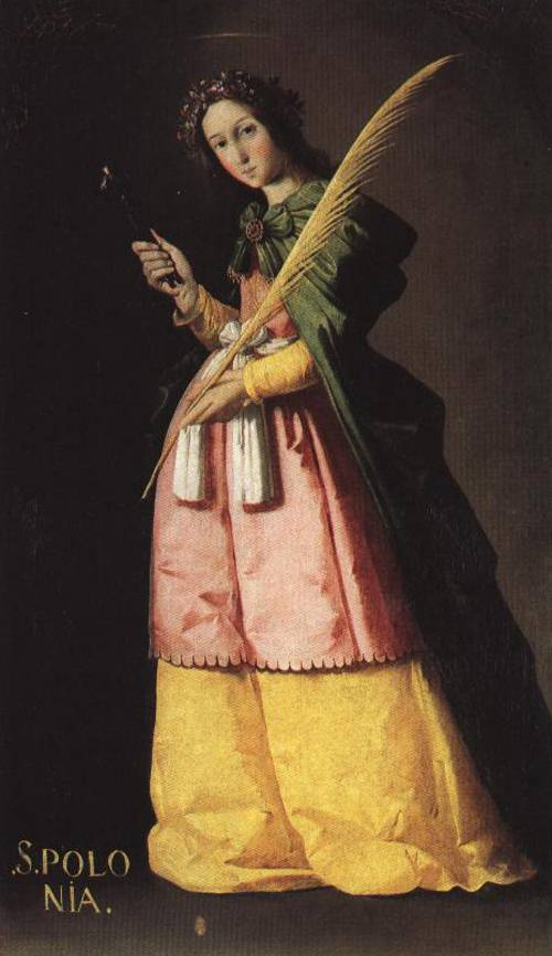 St. Apollonia (St. Apollonia) | Francisco de Zurbaran | Oil Painting