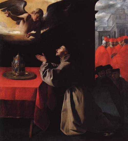 St. Bonaventure in Prayer (St. Bonaventure) | Francisco de Zurbaran | Oil Painting