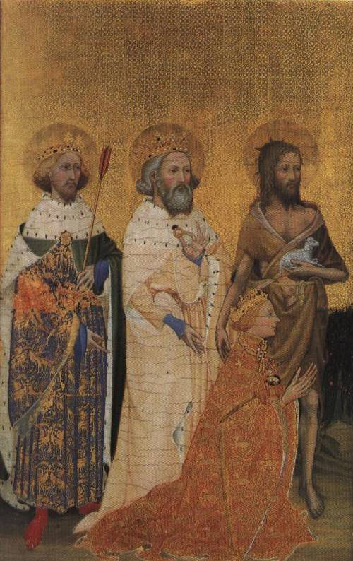 Richard II Presented to the Virgin and Child by His Patron Saints (St. Edward the Confessor) a | French School 1395 | Oil Painting