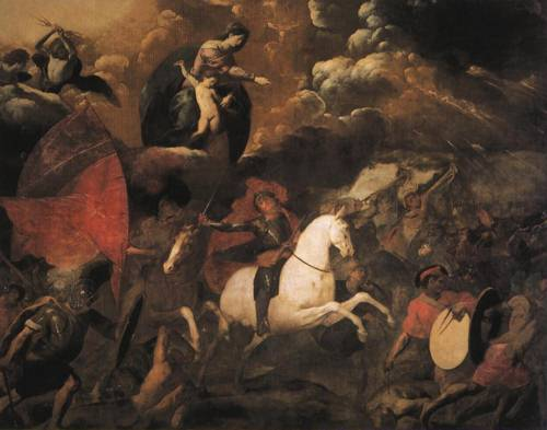 The Madonna Guiding St. Dominic to Victory over the Albigensians (St. Dominic) | Giovanni Battista Crespi | Oil Painting