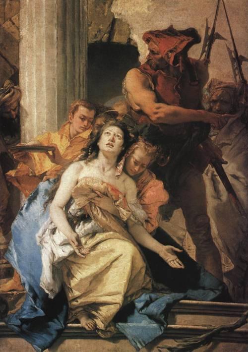 The Martyrdom of St. Agatha (St. Agatha) | Giovanni Battista Tiepolo 1750 | Oil Painting