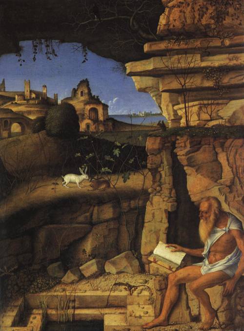 St. Jerome Reading (St. Jerome) | Giovanni Bellini 1480 1490 | Oil Painting