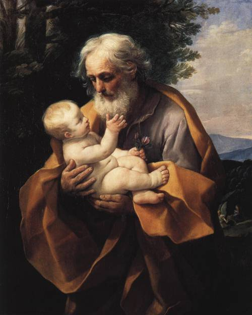 St. Joseph with the Child in His Arms (St. Joseph) | Guido Reni | Oil Painting