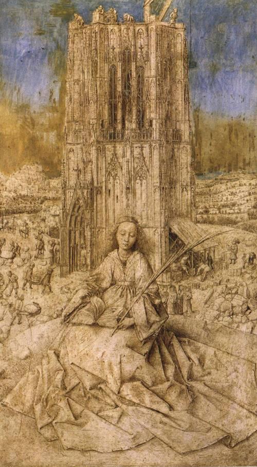 St. Barbara (St. Barbara) | Jan van Eyck | Oil Painting