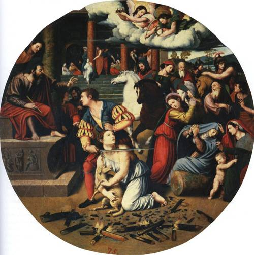 The Martyrdom of St. Agnes (St. Agnes) | Juan Vicente Masip | Oil Painting
