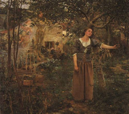 Joan of Arc (St. Joan of Arc) | Jules Bastien Lepage 1879 | Oil Painting