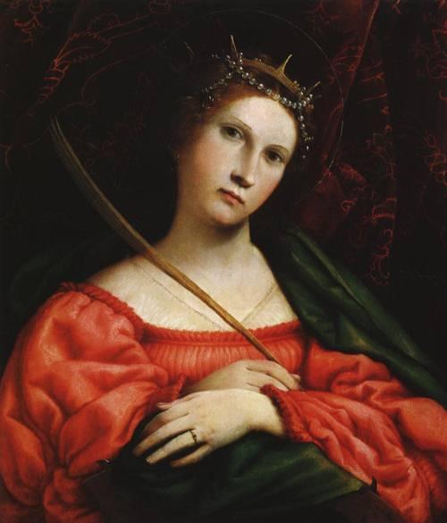 St. Catherine of Alexandria (St. Catherine of Alexandria) | Lorenzo Lotto 1522 | Oil Painting