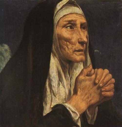 St. Monica (St. Monica) | Luis Tristan | Oil Painting