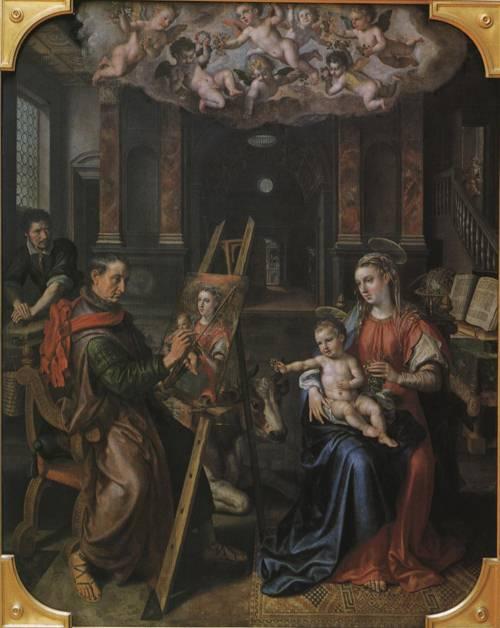St. Luke Painting the Virgin's Portrait (St. Luke) | Marten de Vos 1602 | Oil Painting