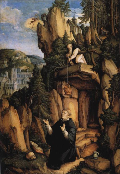 St. Benedict in Prayer (St. Benedict) | Master of Messkirch 1538 | Oil Painting
