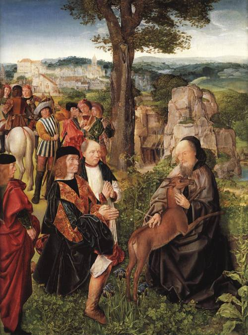 St.Giles and the Hind (St. Giles) | Master of St. Giles | Oil Painting