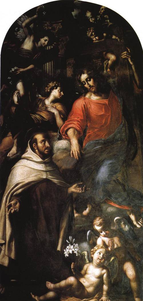 The Anticipation of the Coming of Christ by St. John of the Cross (St. John of the Cross) | Nicolo Lorenese 1686 | Oil Painting