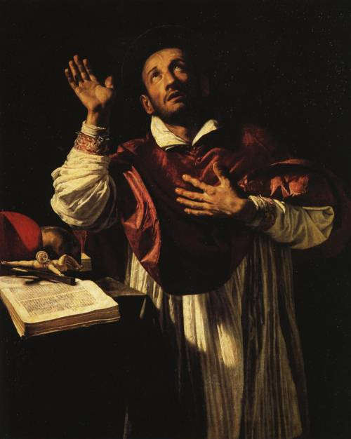 St. Carlo Borromeo (St. Charles Borromeo) | Orazio Borgianni | Oil Painting