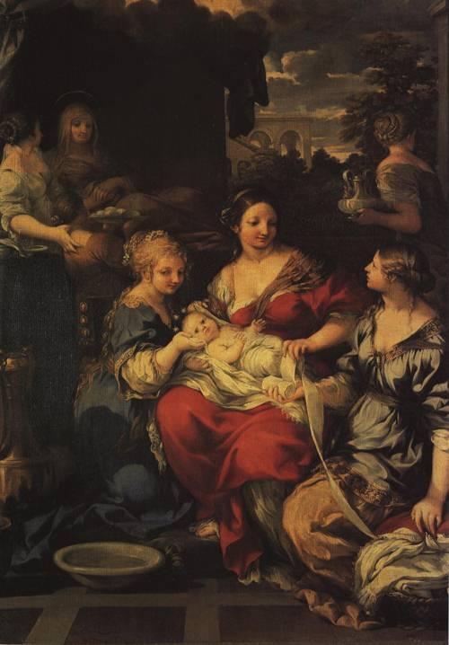 The Nativity of the Virgin (St. Anne) | Pietro da Cortona | Oil Painting