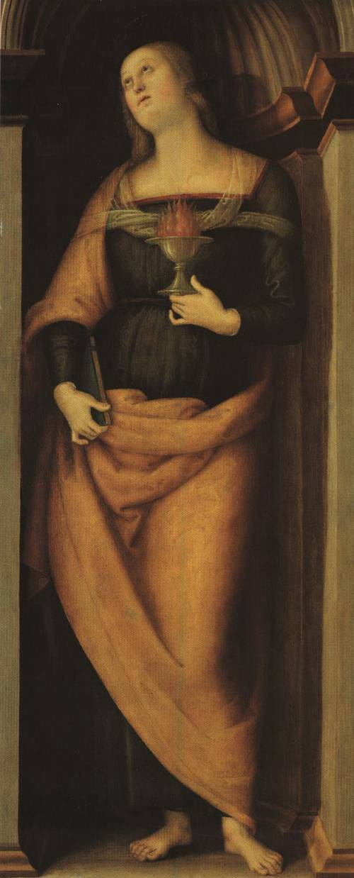 St. Lucy (St. Lucy) | Pietro Perugino 1505 | Oil Painting