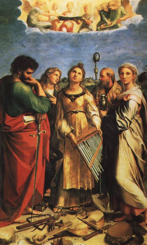 The Ecstasy of St. Cecilia (St. Cecilia) | Raphael 1514 | Oil Painting