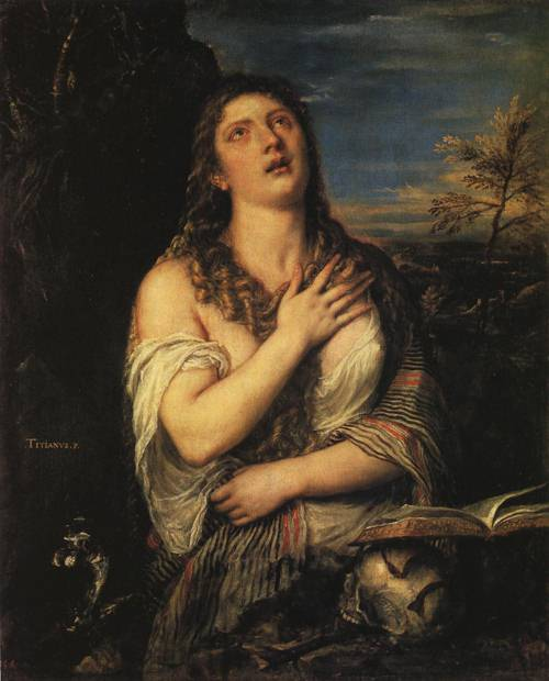 Penitent Mary Magdalen (St. Mary Magdalen) | Titian 1560 | Oil Painting