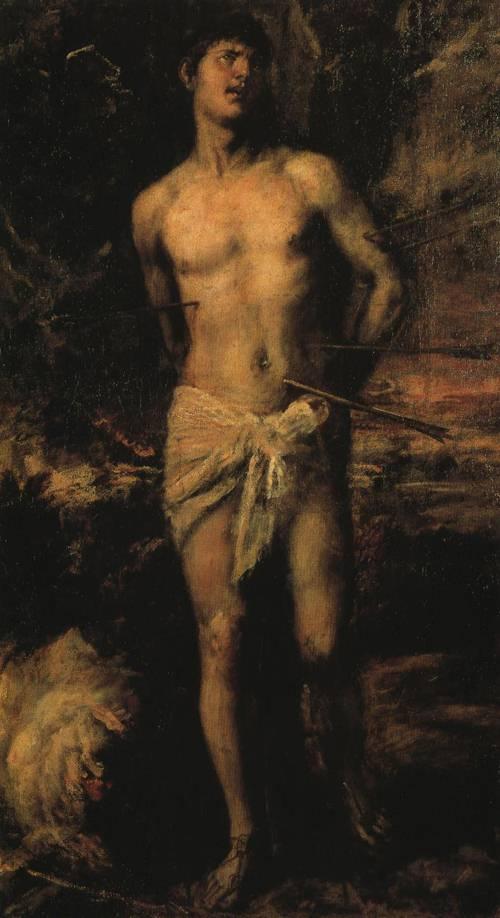 St. Sebastian (St. Sebastian) | Titian 1570 | Oil Painting