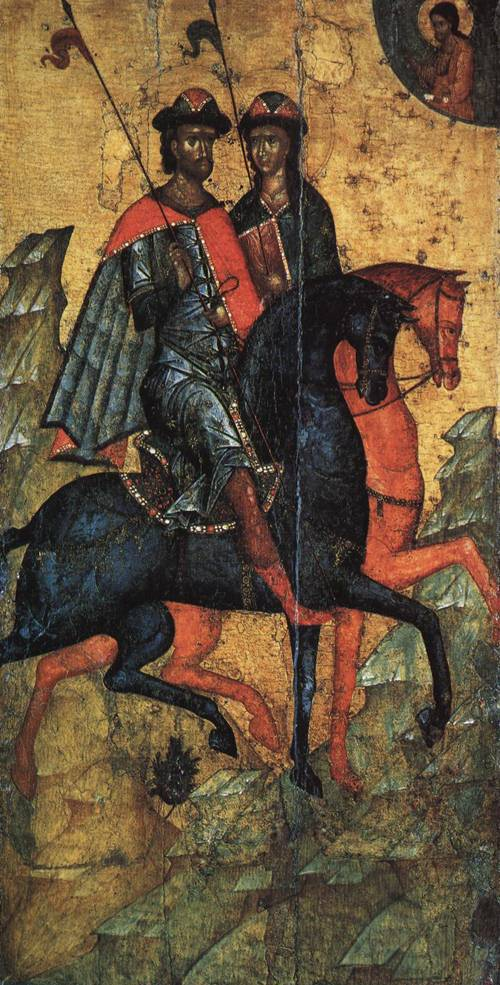 Ikon of SS. Boris and Gleb on Horseback (St. Boris) | Unknow Artist second half of 14th cent. | Oil Painting