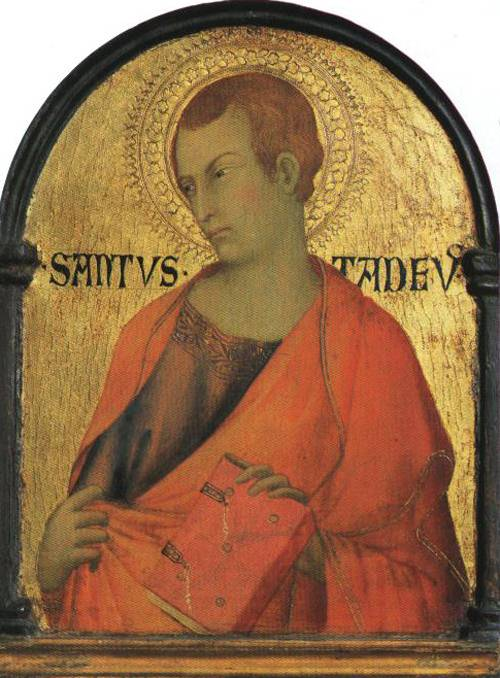 St. Jude Thaddeus (St. Jude) | Workshop of Simone Martini 1320 | Oil Painting