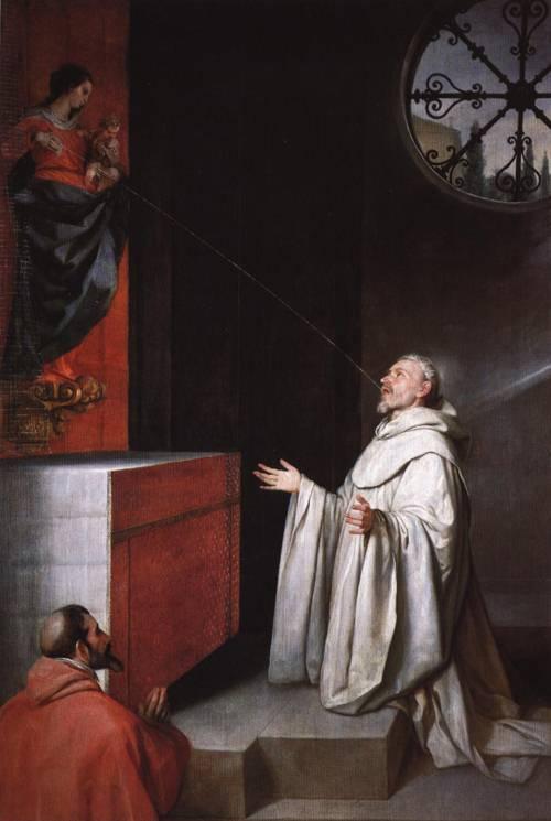 St. Bernard and the Virgin (St. Bernard) | Alonso Cano | Oil Painting