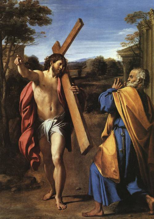 Christ Appearing to St. Peter on the Appian Way (St. Peter) | Annibale Carracci | Oil Painting