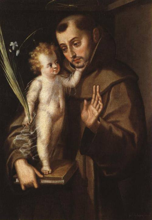 St. Anthony of Padua with the Infant Savior (St. Antony of Padua) | Ascribed to Luis Juarez 1620 1629 | Oil Painting