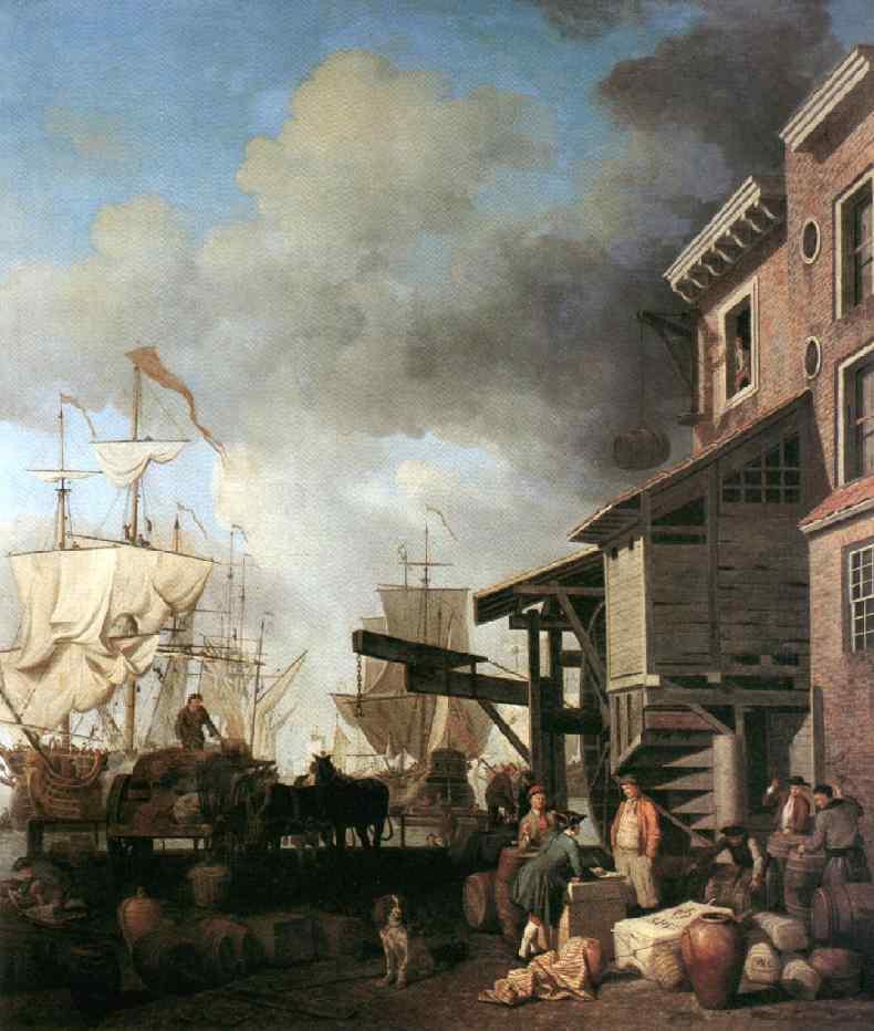 A Thames Wharf 1750s | Samuel Scott | Oil Painting