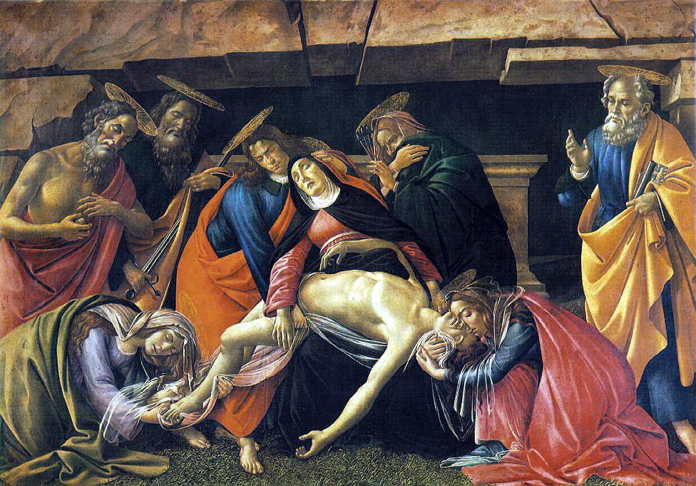 Lamentation Over The Dead Body Of Christ 1495 | Sandro Botticelli | Oil Painting
