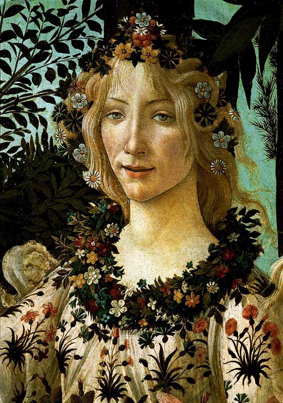 La Primavera Allegory Of Spring (Detail) 2 1477-78 | Sandro Botticelli | Oil Painting