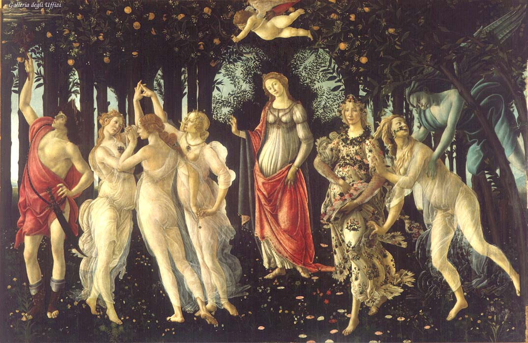 La Primavera Allegory Of Spring 1477-78 | Sandro Botticelli | Oil Painting