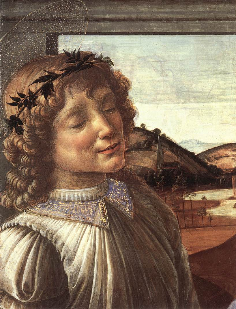 Madonna And Child With An Angel (Detail) C1470 | Sandro Botticelli | Oil Painting