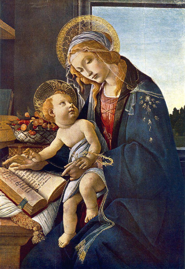 Madonna With The Child (Madonna With The Book) 1483 | Sandro Botticelli | Oil Painting