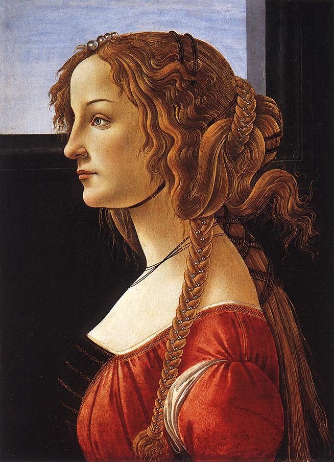 Portrait Of A Young Woman After 1480 | Sandro Botticelli | Oil Painting