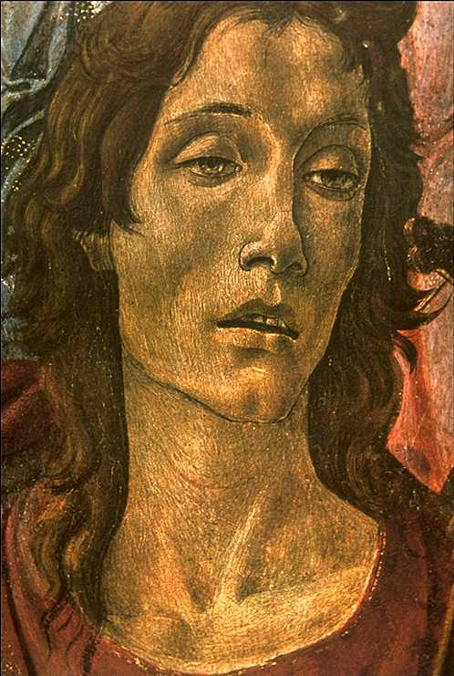 San Barnaba Altarpiece (Detail Head Of St John) 1490 | Sandro Botticelli | Oil Painting