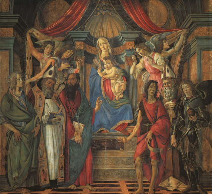 San Barnaba Altarpiece (Madonna Enthroned With Saints) 1490 | Sandro Botticelli | Oil Painting